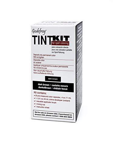 Godefroy - Kit de tintura profesional para cejas y barba, color: marrón oscuro