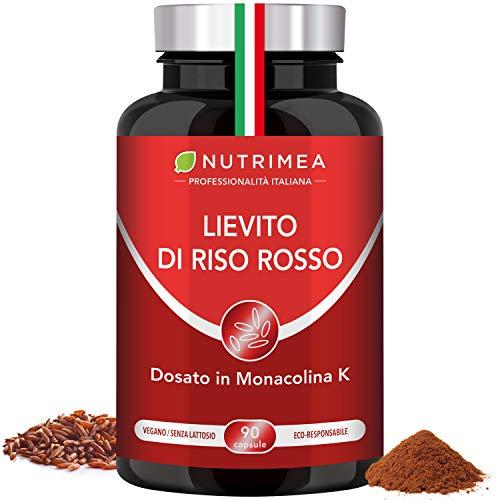 90 cápsulas de arroz de levadura roja + coenzima Q10 ARRICES ROJO CQ10 Nutrimea Monacolina K altamente dosificado Registrado en el Ministerio de Salud italiano