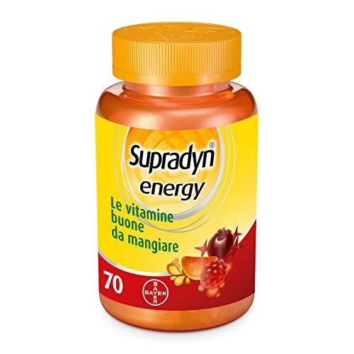 Suplemento alimenticio Supradyn Energy de vitaminas con coenzima Q10, sin gluten, 70 caramelos gomosos