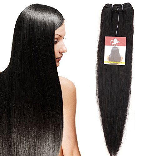 Extensiones de cabello real de 10'-24 'Paquete de tejidos de pelo humano Remy sin procesar 100 g / hilo