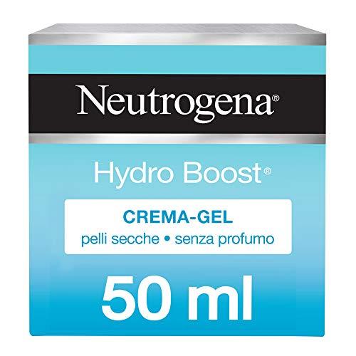 Neutrogena Hydro Boost, Crema facial en gel, ácido hialurónico hidratante, piel seca y sensible, 50 ml