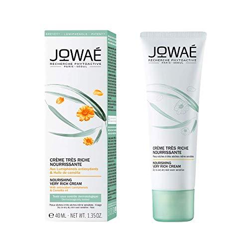JOWAÉ Crema facial nutritiva rica en aceite de camelia, para pieles secas a muy secas, incluso sensibles, formado 40 ml