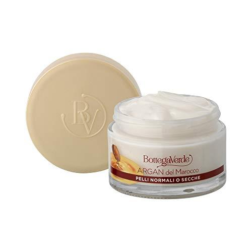 Bottega Verde, Crema facial para mujer de argán marroquí, anti-envejecimiento nutritivo con aceite de argán, piel normal o seca (50 ml)