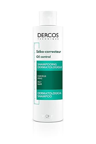 Vichy Dercos Champú de tratamiento regulador del sebo para el pelo grasos - 200 ml