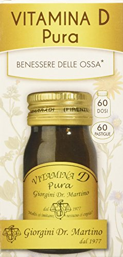 Suplemento alimenticio Dr.  Giorgini, comprimidos puros de vitamina D - 30 g