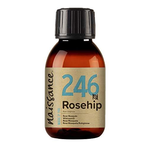 Aceite de rosa mosqueta Naissance 100 ml - Hidratante, nutritivo y emoliente para todo tipo de piel - Útil para la cara, el pelo y las uñas