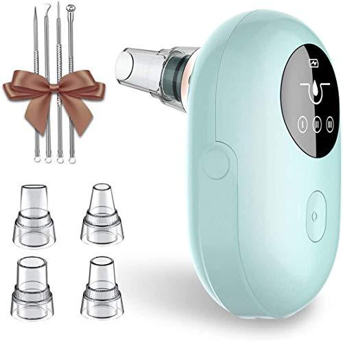 Mosen Blackheads Aspirator Limpiador de poros Extractor profesional recargable para USB adecuado para pieles grasas y grasas para acné (4 sondas y 3 niveles, pantalla a ...