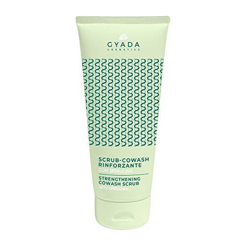 GYADA COSMETICS Refrescante exfoliante de lavado con espirulina orgánica certificada fabricado en España, verde, 200 mililitros