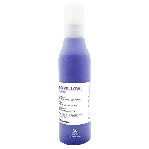 Cuidado esencial del cabello - Spray bifásico sin amarillo - Tratamiento anti-amarillo iluminando profesional para los cabellos rubios y resaltados - Sin enjuague - 200 ml