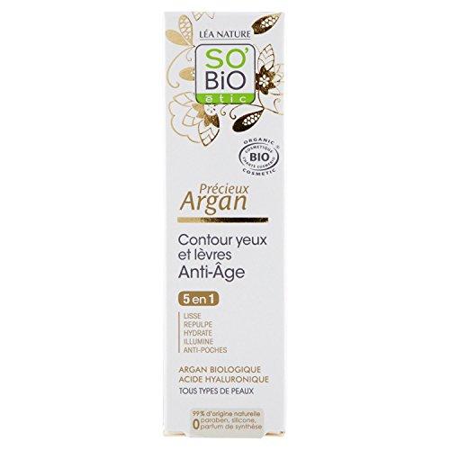 SO BiO Ético Anti-Envejecimiento de Labios y Ojos de Argan