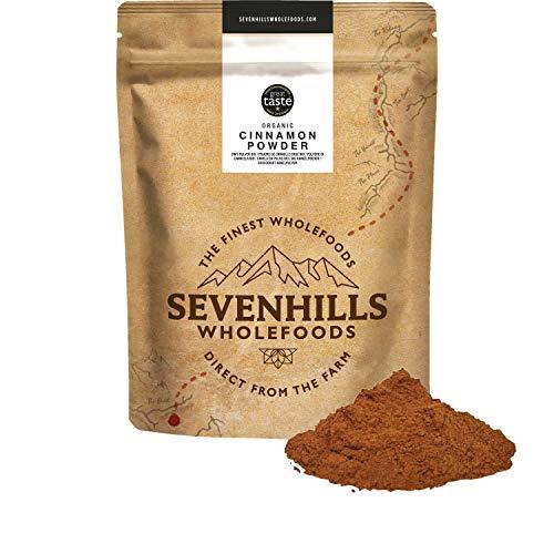 Sevenhills Wholefoods Canela en polvo (verdadero Ceilán) orgánico crudo 500gr