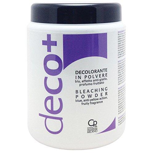 Puede azul decolorante DECO + - Tratamiento blanqueador profesional anti-amarillo - Cabello rubio perfecto - Para aclarar hasta 6 tonos - 500 g