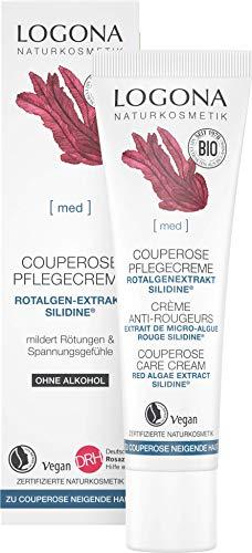 Logona Naturkosmetik, crema de día y de noche para el tratamiento de la couperosis, fortalece las paredes vasculares y aumenta la elasticidad, con el ingrediente activo exclusivo ...