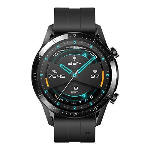 Reloj inteligente HUAWEI GT 2 de 46 mm, duración de la batería hasta 2 semanas, GPS, 15 modos de entrenamiento, pantalla de marcación de cristal 3D, llamada ...