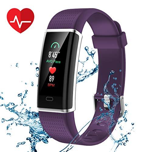 Rastreador de fitness CHEREEKI, monitor de sueño inteligente IP67 impermeable que lee el mensaje por SMS, Whatsapp, Facebook, Skype