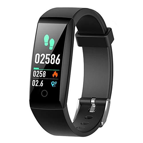 Rastreador de fitness iPosible, pulsera de reloj de fitness Presión arterial Monitor de ritmo cardíaco Muñeca Impermeable IP67 Mujer Hombre Niños Reloj inteligente Podómetro ...