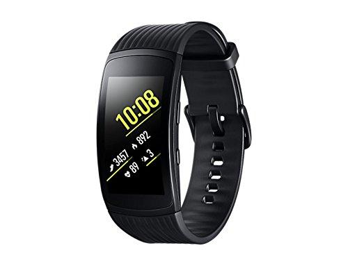 Samsung Gear Fit2 Pro Smartband, negro (grande), GPS, impermeable de 5 cajeros automáticos [Versione Españana]