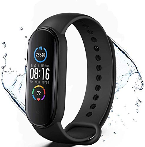 Reloj inteligente KLiHD, M5 Activity Tracker, SmartWatch Fitness Tracker Reloj deportivo Smartband, contador de calorías, podómetro, notificaciones de mensajería, monitorización Frecuencia ...
