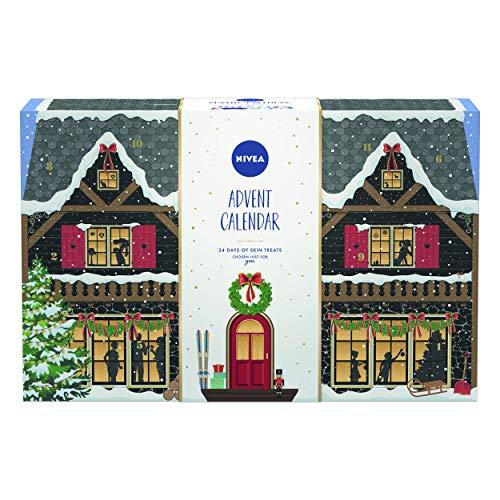 NIVEA Ski Lodge Adviento Calendar 2020 for Her, Christmas Adviento Calendar con una gran variedad de productos NIVEA, Beauty Adviento Calendar, ...