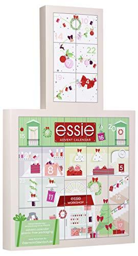 Calendario de adviento de esmalte de uñas 2020, conjunto de regalos de Navidad variado para esmalte de uñas y cuidado de las uñas 24 puertas Tamaño total y tamaño mínimo