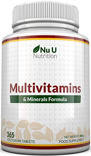 Suplemento multivitamínico y multimineral |  365 tabletas (suministro hasta 1 año) |  24 vitaminas y minerales para hombres y mujeres, aptos para vegetarianos |  ...