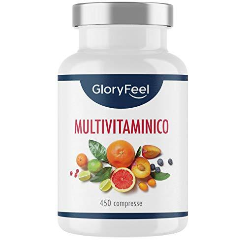 Multivitamínicos y multiminerales: 450 comprimidos (suministro de formato familiar para 1 o más años) - Vitaminas A, B, C, D3, E, calcio, zinc, selenio - Suplemento de vitaminas y minerales ...