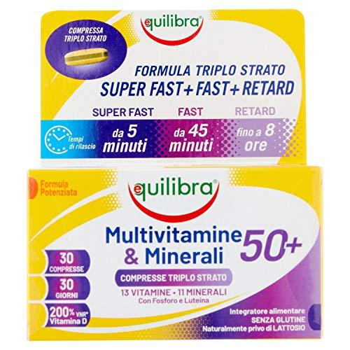 Equilibra multivitaminas & Minerales 50+, 30 comprimidos de triple capa