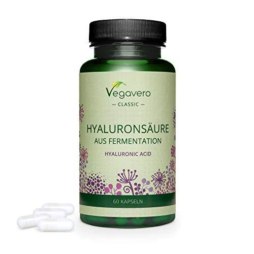 Vegavero® ÁCIDO HIALUR®NIC |  600 mg: LA DOSIFICACIÓN MÁS ALTA |  100% PURO y NATURAL: procedente de la fermentación |  Suplemento para pieles y articulaciones 60 cápsulas |  Vegana ...