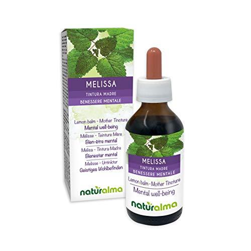 La melisa (Melissa officinalis) deja tintura madre no alcohólica naturalmente |  El extracto líquido cae 100 ml |  Complemento alimentario Vegano
