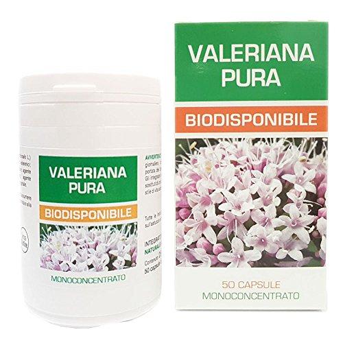 Pure Valerian Naturpharma 50 cápsulas veganas de 500 mg de extracto puro |  Extracto seco de la raíz titulado a 0,42 en ácidos valerénico