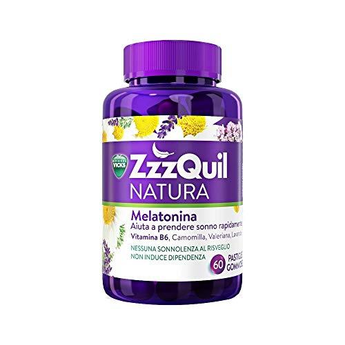 Vicks ZzzQuil Natura 60 comprimidos de melatonina gomosa