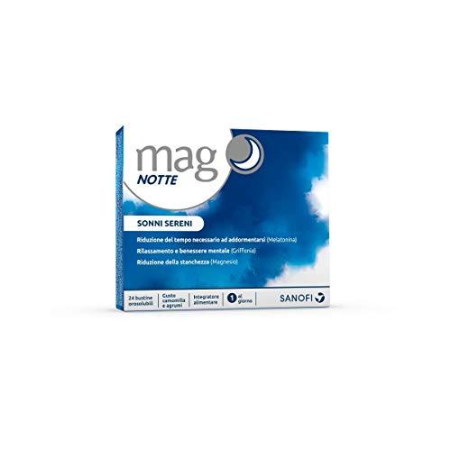 Mago Notte: suplemento a base de melatonina, magnesio, Griffonia y triptófano, ingredientes útiles para dormirse, favoreciendo la relajación y la calidad del sueño ...