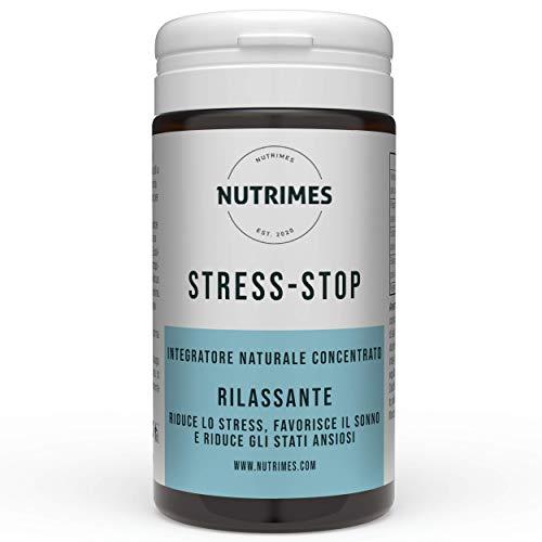 STRESS-STOP / Complemento de estrés / Ingredientes naturales y concentrados para disminuir el estrés, favorecer el sueño y reducir la ansiedad / NUTRIMES