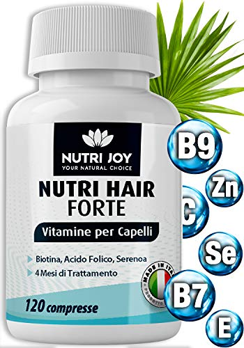 4 meses [ 120 COMPRESSE ] Suplemento para el cabello x Crecimiento del cabello |  Biotina para el cabello |  Complementos para el cabello con biotina y vitaminas