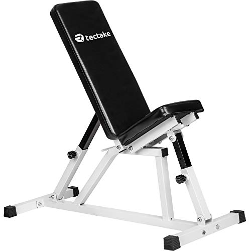 TecTake 402269 Banco inclinable ajustable |  Respaldo y asiento regulable Entrenamiento físico