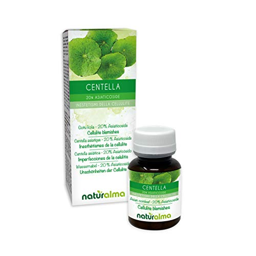 CENTELLA (Centella asiatica) Naturalmente herb |  20% Asiaticosida |  120 comprimidos de 500 mg |  Anticelulítico, drenante, retención de agua y microcirculación |  Suplemento ...