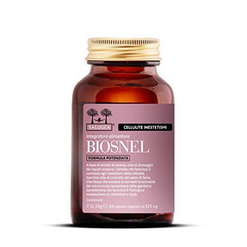 BIOSNEL Enhanced Formula Salugea - Suplemento para retención de agua y celulitis: purifica y crema - 100% natural con piña, Garcinia, vid roja, ...