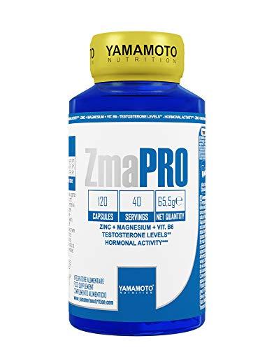 Complemento alimentario Yamamoto Nutrition ZmaPRO a base de cápsulas de zinc, magnesio y vitamina B6 120
