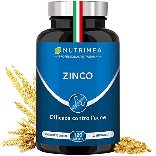 Citrato de zinc 40 Mg |  Suplemento con 12,5 mg de elemento de zinc (Zn) por cápsula |  Muy alta absorción |  Complemento alimentario Antioxidante para pieles y acné ...