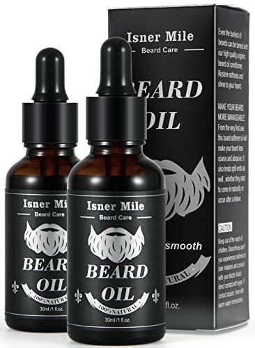 La mejor elección de 2 paquetes de aceite de barba de ricino para el cuidado de la barba para hombres, la mejor opción para el crecimiento de la barba, suavizarla, hidratarla, fortalecerla y cuidarla. ..