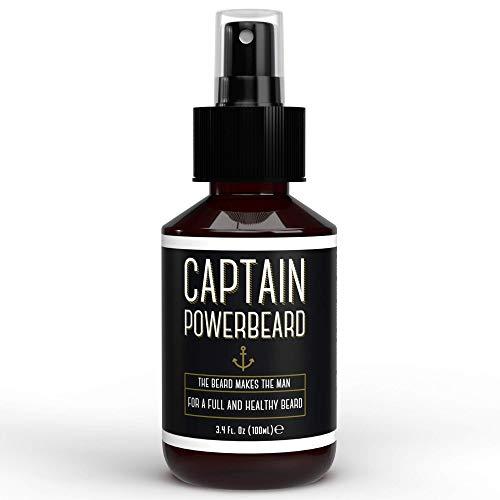 Captain Powerbeard Beard Growth Spray Y Hidratante y nutritivo Aceite de barba Y Spray de aceite de barba que favorecen el crecimiento de la barba Barba gruesa, suave y saludable I ...