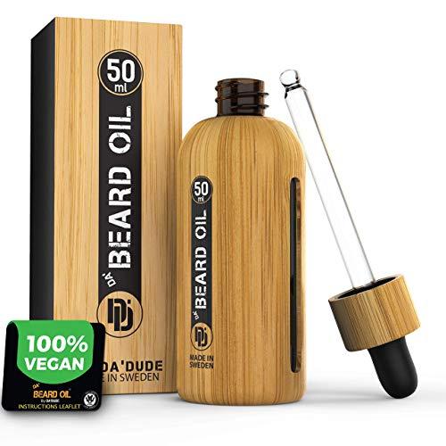 Aceite Da'Dude Da'Beard Mejor bálsamo de barba, aceite de barba hidratante vegano para hombres, el secreto de una barba formidable de 50 ml