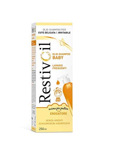 RestivOil Limpiador para bebés delicados, aceite fisiológico con acción protectora y anti-irritante, para pieles sensibles y delicadas para niños, 250 ml