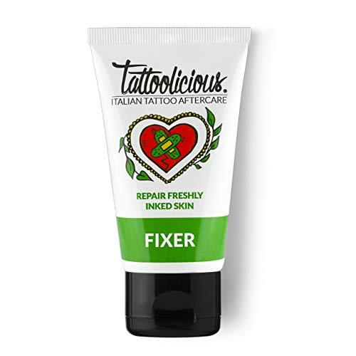 TATTOOLICIOUS Fixer - Crema calmante después del tatuaje, específica para el cuidado del tatuaje, con ingredientes bioactivos con propiedades curativas, 1 tubo, 75 ml