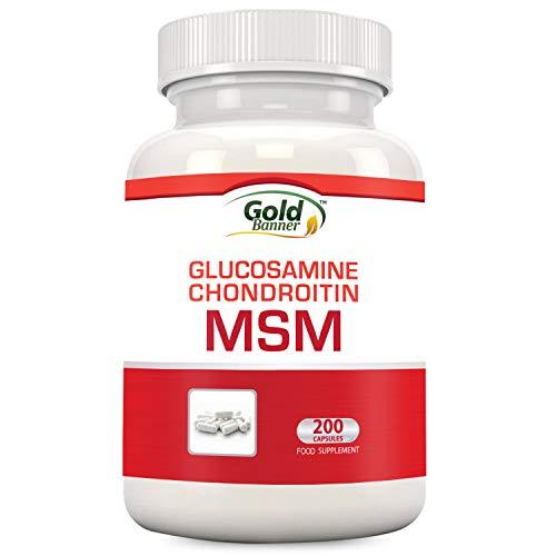 Suplemento conjunto con MSM, glucosamina, condroitina, 200 comprimidos, fabricados en EEUU en un centro certificado por GMP, ...