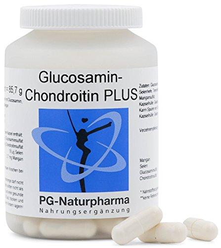 Glucosamina y condroitina: 100 cápsulas, dosis elevadas de 500 mg de sulfato de glucosamina y 300 mg de sulfato de condroitina por cápsula, cápsulas articulares con selenio y ...