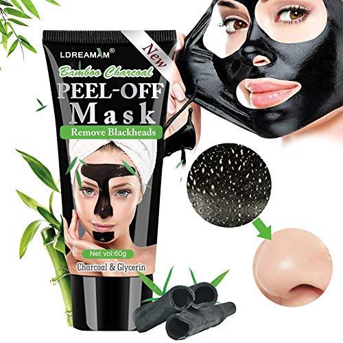 Máscara negra, máscaras faciales, máscara negra, elimina los puntos negros, máscara depurativa purificadora de puntos negros con carbón activo para una limpieza profunda del ...