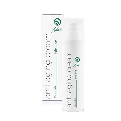 Nuvo '72% Tornillo Slime Crema facial antiarrugas orgánica certificada con ácido hialurónico Aceite de semilla de uva Aloe - Maxi botella 75 ml Hidratante anti-envejecimiento ...