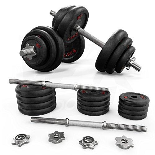 We R Sports Conjunto de pesas de 20 kg Gimnasio Pesas de pesas libres Bíceps Entrenamiento Fitness