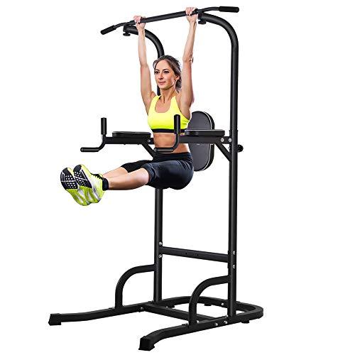Torre de alimentación multifunción OneTwoFit para flexiones, pull-ups, fitness y abdominales.  Estructura de tracción con asas ergonómicas y altura ajustable para ...